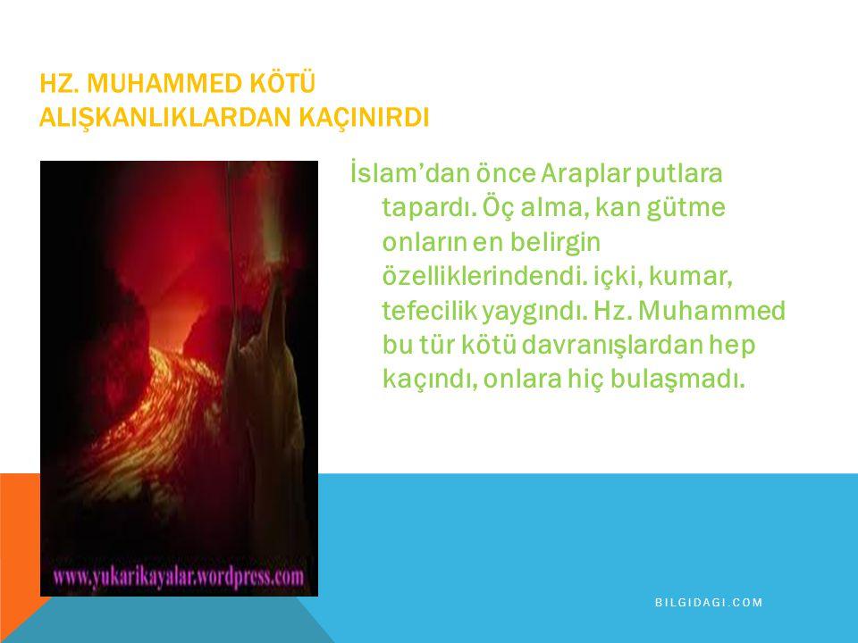 Hz.Muhammed yardımlaşma konusunda da örnek bir insandı.
