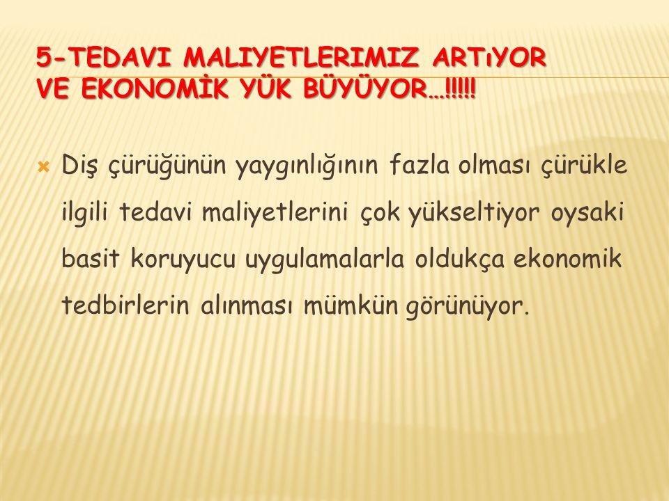 5-TEDAVI MALIYETLERIMIZ ARTıYOR VE EKONOMİK YÜK BÜYÜYOR…!!!!.