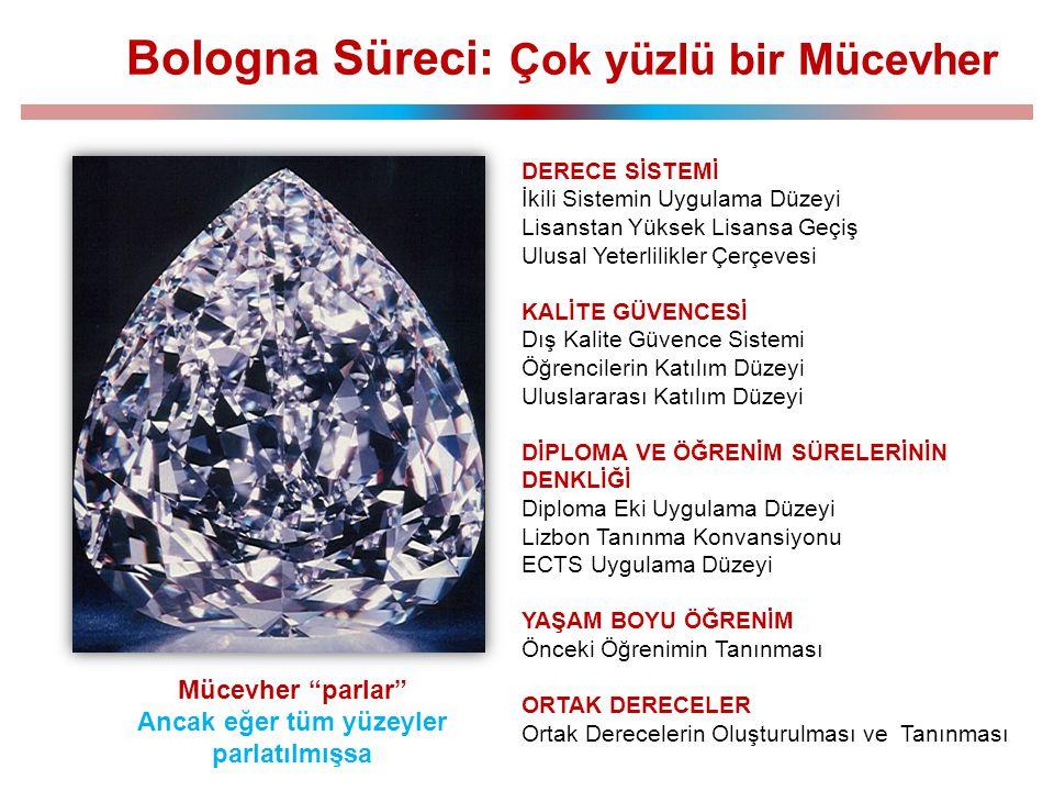 """Mücevher """"parlar"""" Ancak eğer tüm yüzeyler parlatılmışsa Bologna Süreci: Çok yüzlü bir Mücevher DERECE SİSTEMİ İkili Sistemin Uygulama Düzeyi Lisanstan"""