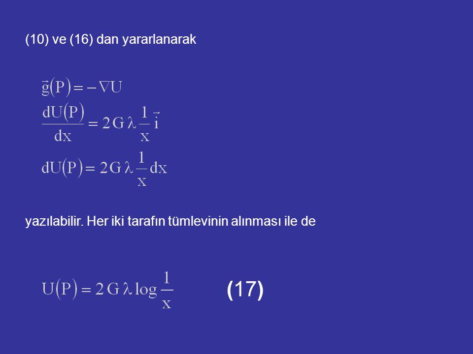 (10) ve (16) dan yararlanarak yazılabilir. Her iki tarafın tümlevinin alınması ile de (17)