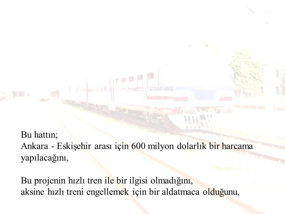 8 Haziran 2003 tarihinde AKP nin Ankara - İstanbul hızlı tren hattını tamamlamak yerine, Abdülhamit zamanından kalan 725 km.lik hattı modernize edecek şekilde Alarko ile ortak İspanyol şirketiyle bir anlaşma imzaladığını,