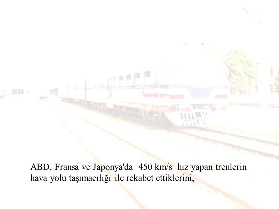 Tokyo da yüksek hızlı trenlerin (200 km/s) 1964 yılında çalışmaya başladığını ve bu güne kadar bu trenlerin hiç kaza yapmadığını,
