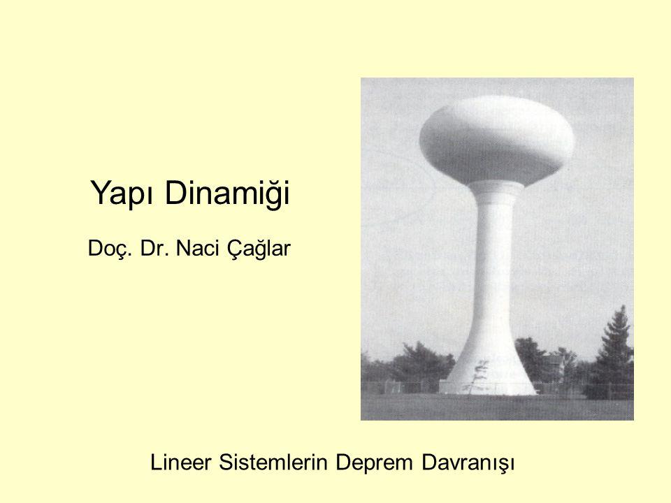 Doç. Dr. Naci Çağlar Yapı Dinamiği Lineer Sistemlerin Deprem Davranışı