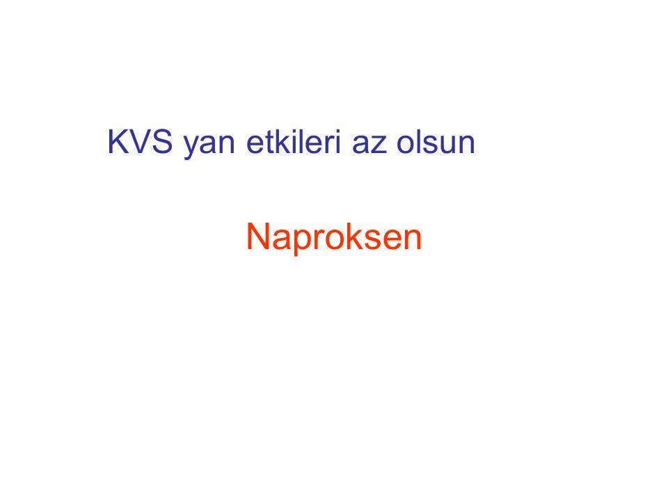 KVS yan etkileri az olsun Naproksen