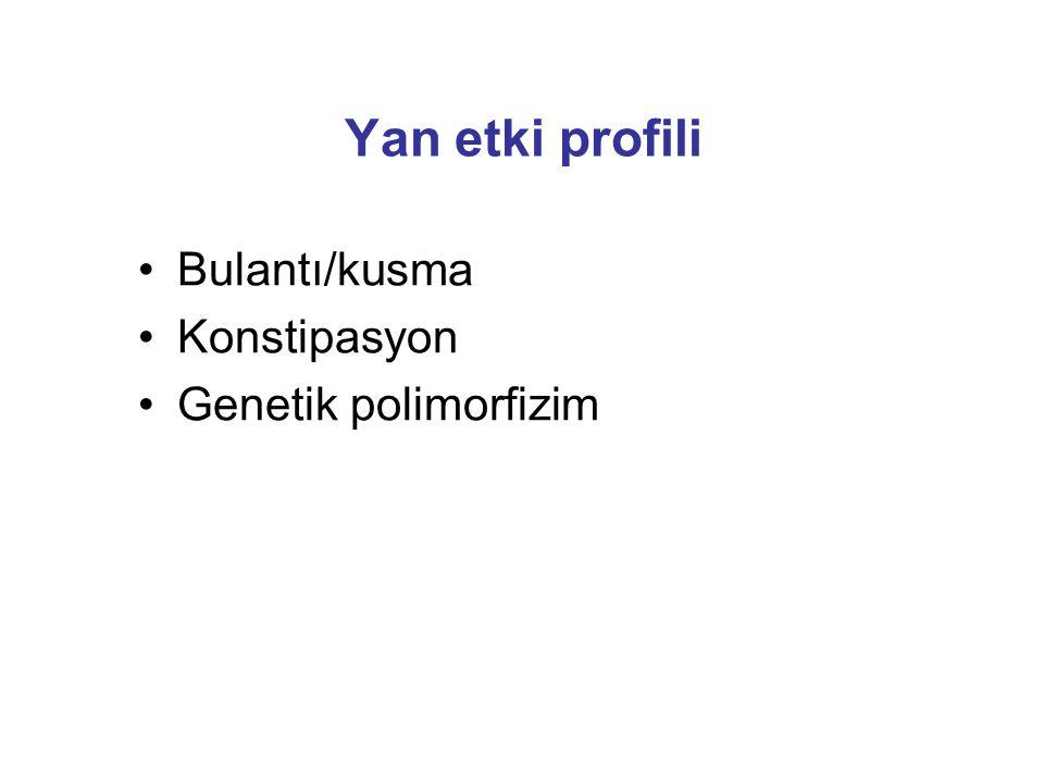 Yan etki profili Bulantı/kusma Konstipasyon Genetik polimorfizim