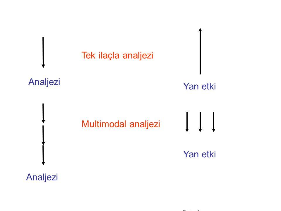 Nosiseptif imputları azaltmak –NSAİİ –NMDA reseptör antagonistleri –Gabapentinoidler
