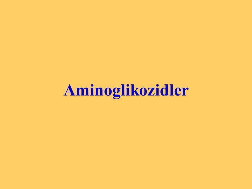 NEOMİSİN : Ototoksik, nefrotoksik ve nöromüsküler blok yapıcı etkisi EN GÜÇLÜ olan aminoglikozidtir.