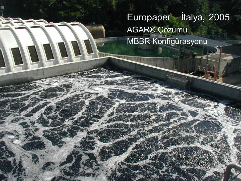 Europaper – İtalya, 2005 AGAR® Çözümü MBBR Konfigürasyonu
