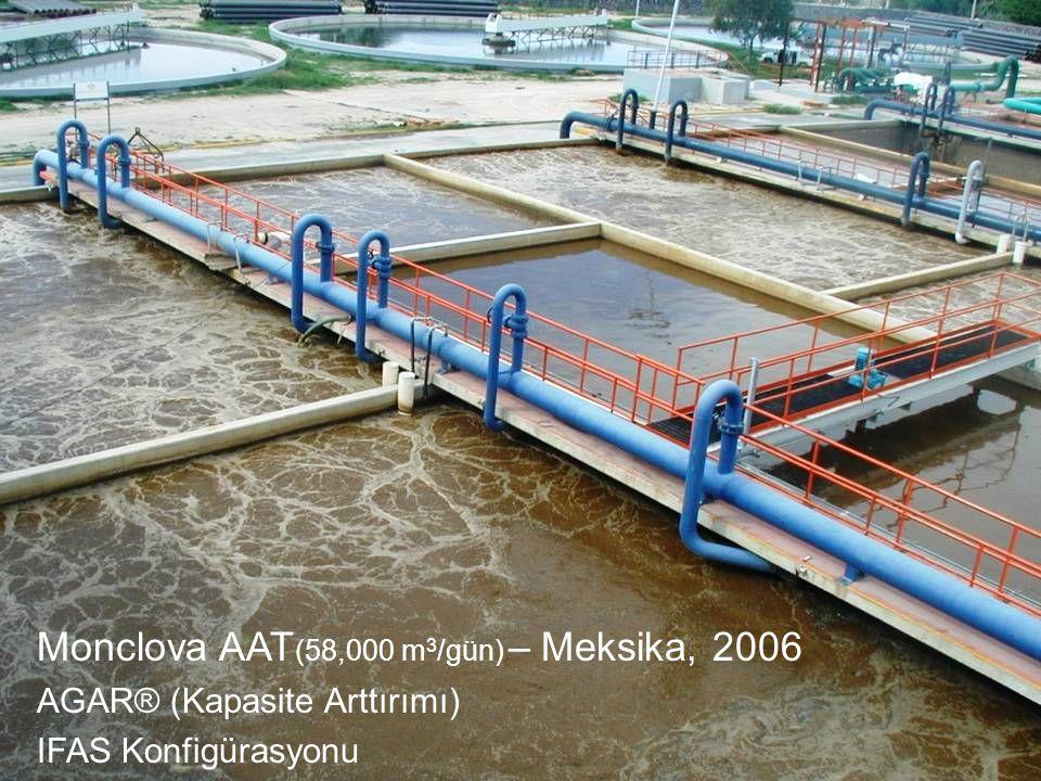 Monclova AAT (58,000 m 3 /gün) – Meksika, 2006 AGAR® (Kapasite Arttırımı) IFAS Konfigürasyonu