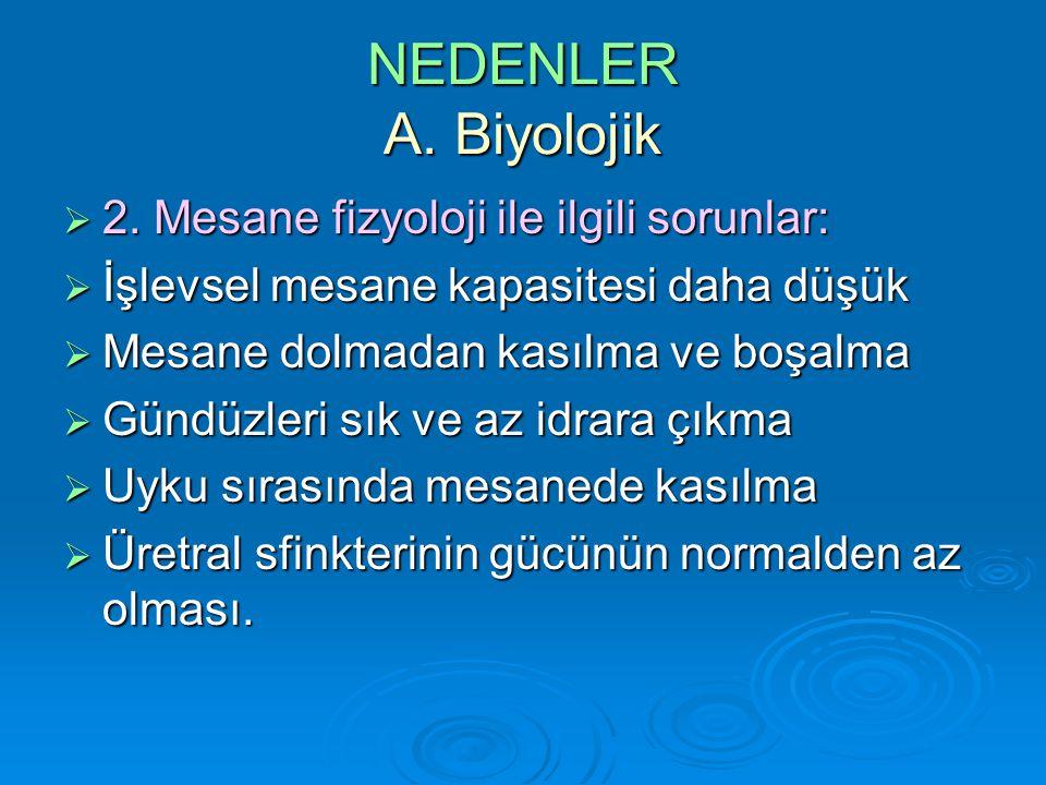 NEDENLER A.Biyolojik  4.