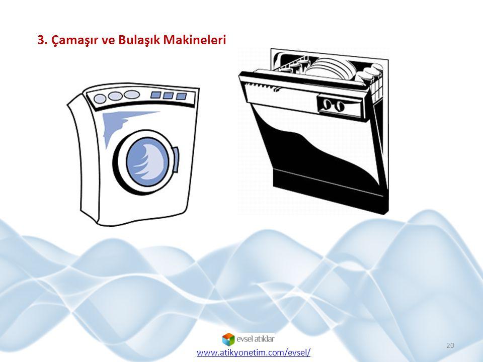 3. Çamaşır ve Bulaşık Makineleri 20 www.atikyonetim.com/evsel/