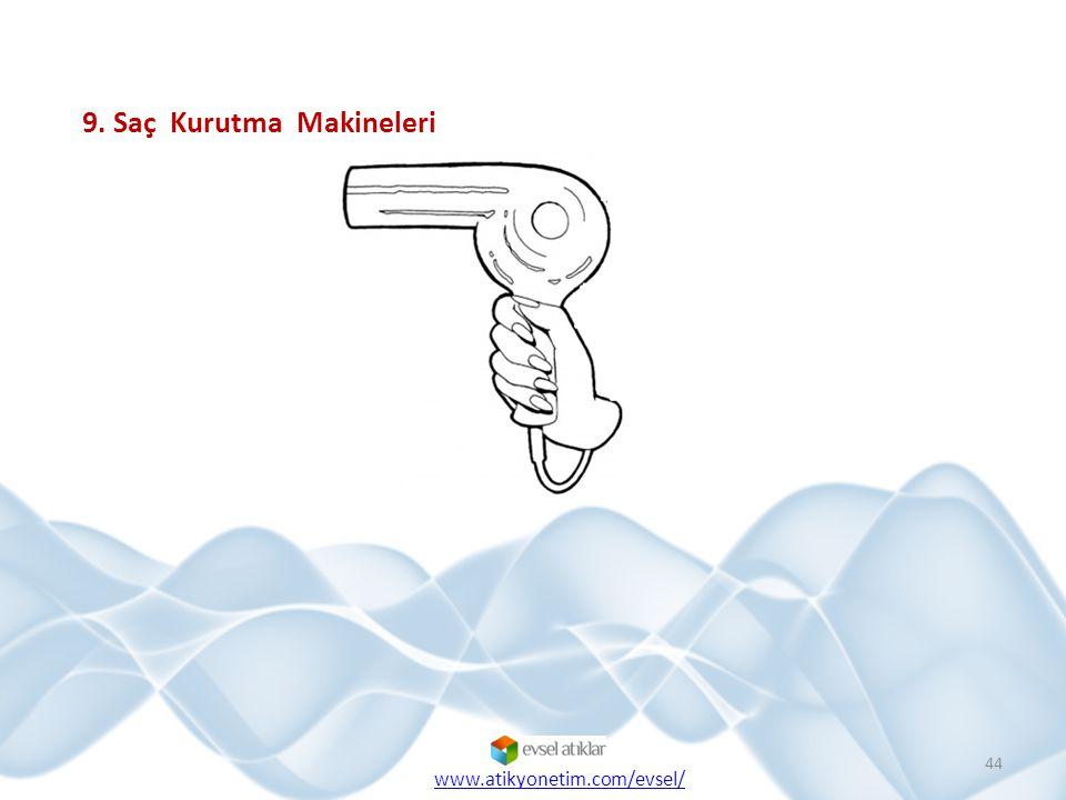 44 9. Saç Kurutma Makineleri www.atikyonetim.com/evsel/
