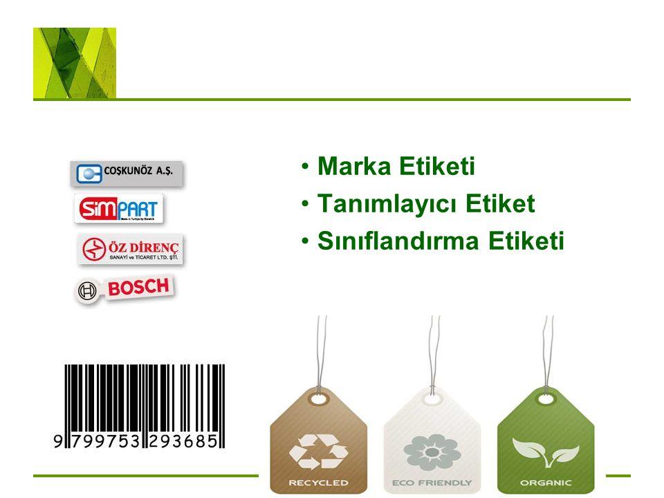 Marka Etiketi Tanımlayıcı Etiket Sınıflandırma Etiketi