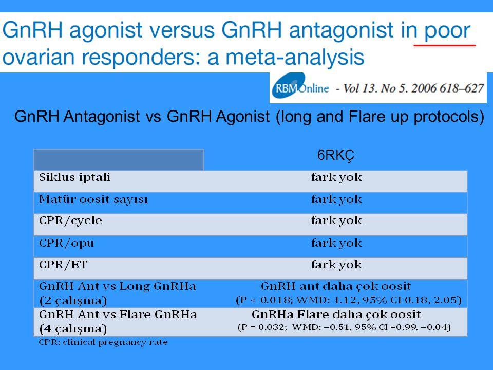 6RKÇ GnRH Antagonist vs GnRH Agonist (long and Flare up protocols)