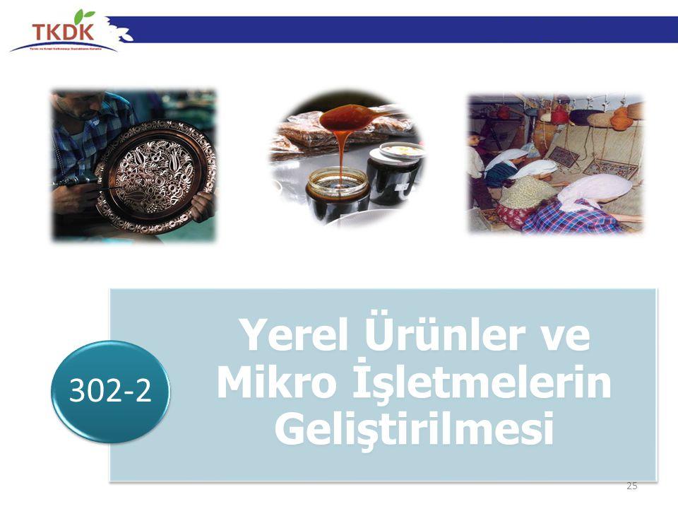 25 Yerel Ürünler ve Mikro İşletmelerin Geliştirilmesi 302-2