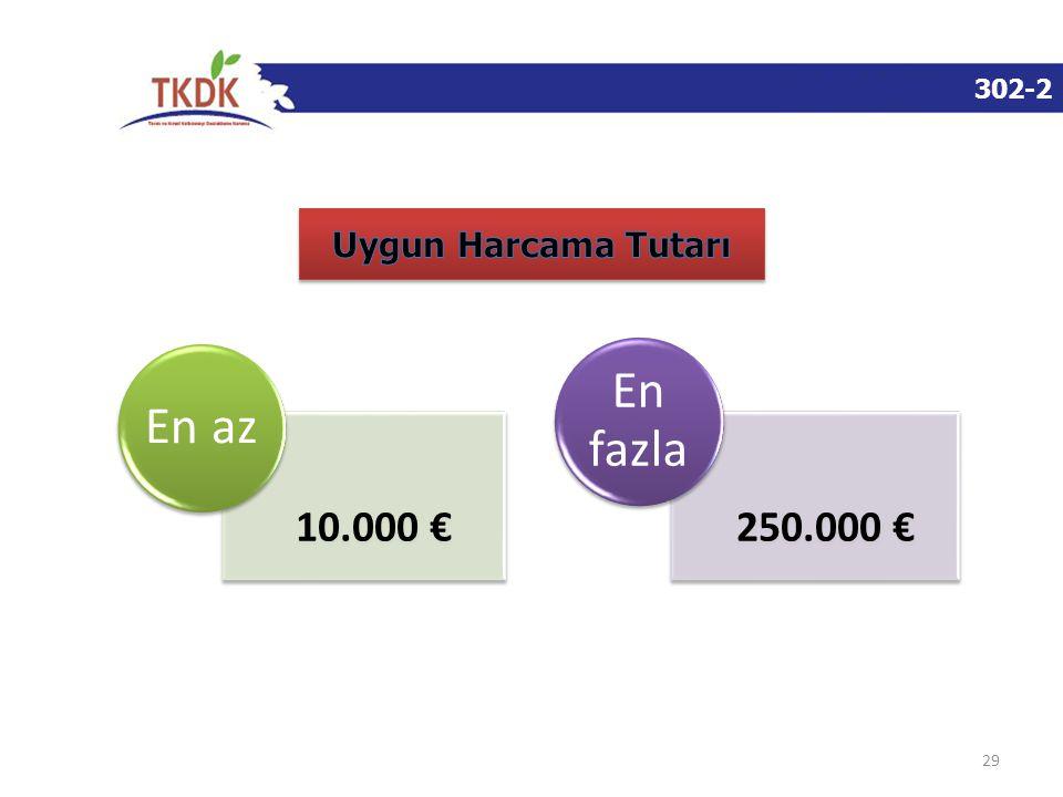 302-2 29 10.000 € En az 250.000 € En fazla