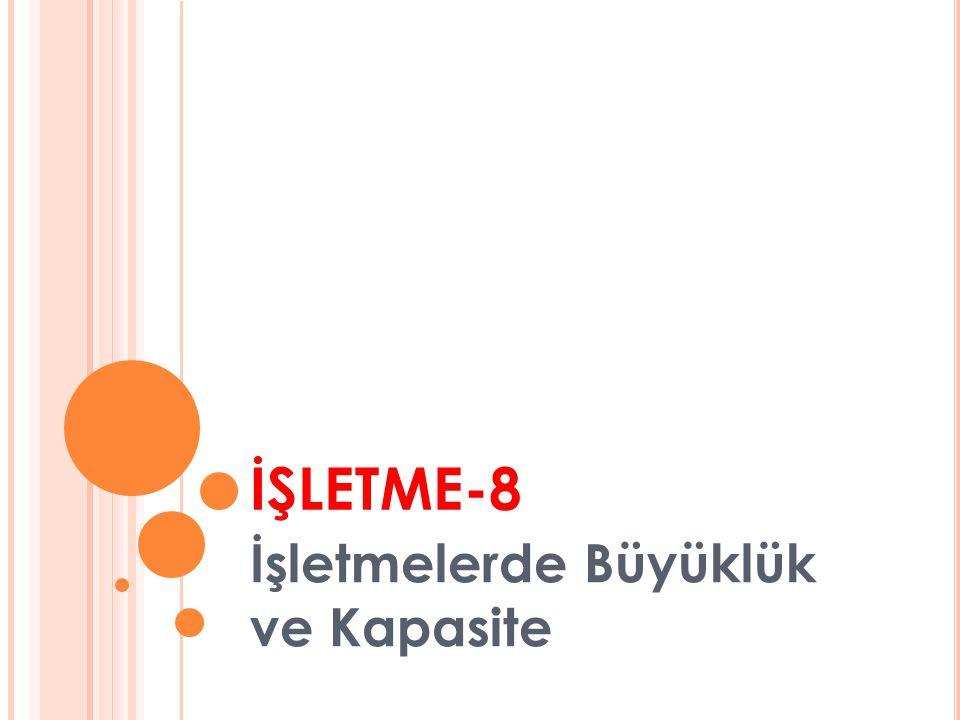 İŞLETME-8 İşletmelerde Büyüklük ve Kapasite