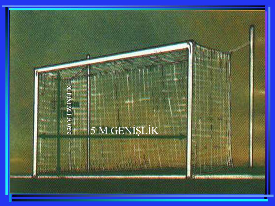 Ceza Alanı ceza alanları, oyun alanının her iki ucunda aşağıda ifade edildiği gibi belirlenir: Kale direklerinin iç kenarlarından2.50 m.