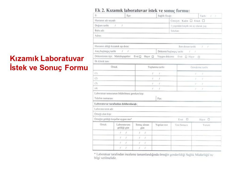Kızamık Laboratuvar İstek ve Sonuç Formu