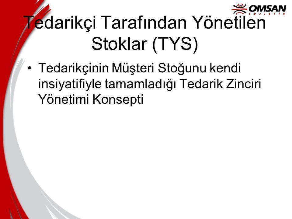Tedarikçi Tarafından Yönetilen Stoklar (TYS) Tedarikçinin Müşteri Stoğunu kendi insiyatifiyle tamamladığı Tedarik Zinciri Yönetimi Konsepti