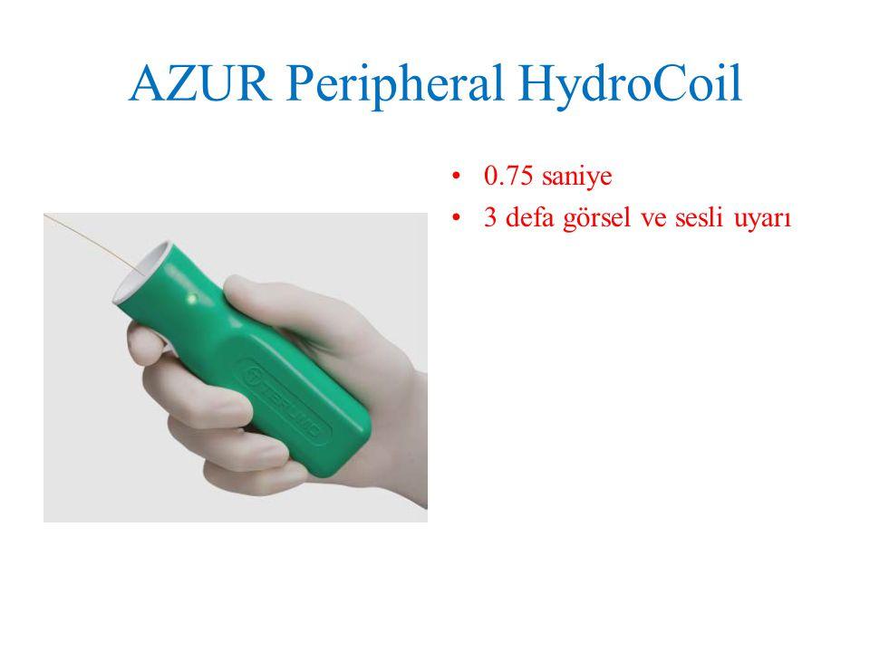 AZUR Peripheral HydroCoil 0.75 saniye 3 defa görsel ve sesli uyarı