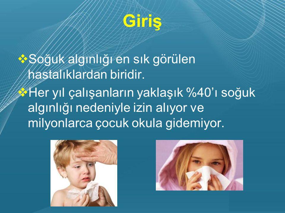 Powerpoint Templates Page 4 Giriş  Soğuk algınlığı en sık görülen hastalıklardan biridir.