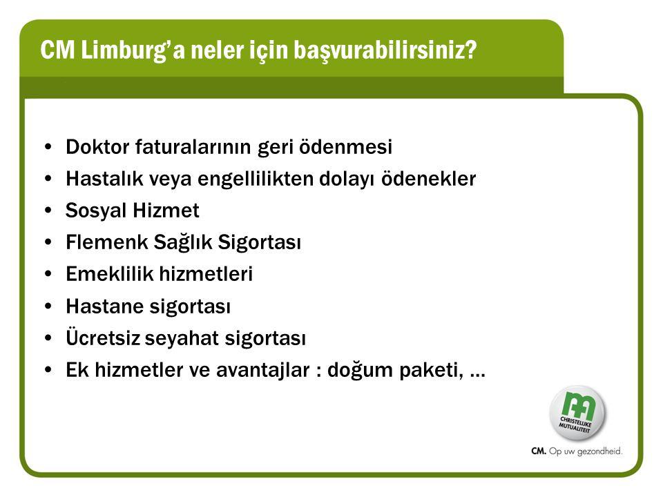 CM Limburg'a neler için başvurabilirsiniz.