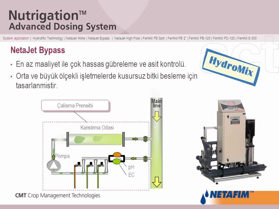 NetaJet Bypass En az maaliyet ile çok hassas gübreleme ve asit kontrolü. Orta ve büyük ölçekli işletmelerde kusursuz bitki besleme için tasarlanmistir
