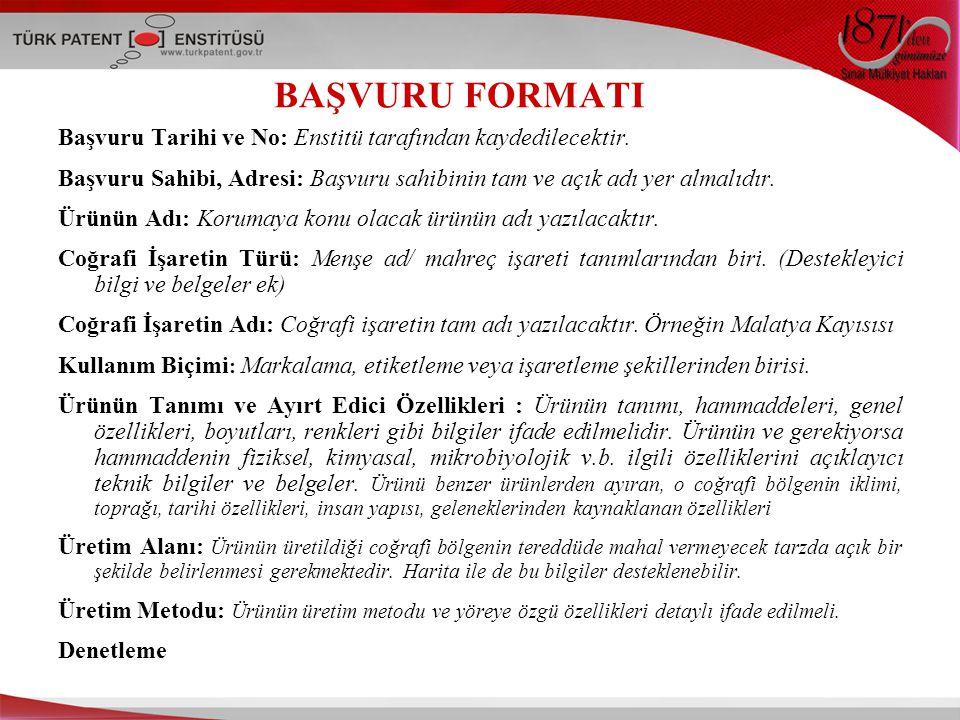 BAŞVURU FORMATI Başvuru Tarihi ve No: Enstitü tarafından kaydedilecektir.