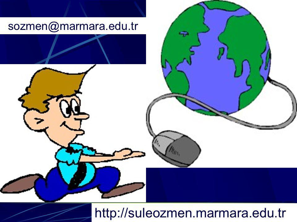 sozmen@marmara.edu.tr http://suleozmen.marmara.edu.tr