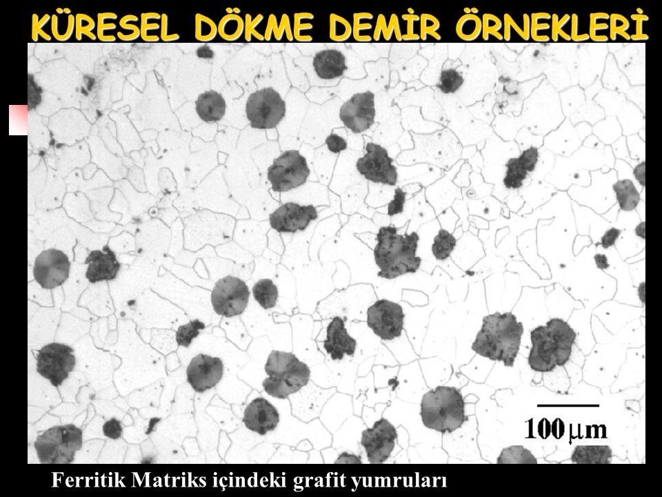 Ferritik Matriks içindeki grafit yumruları KÜRESEL DÖKME DEMİR ÖRNEKLERİ
