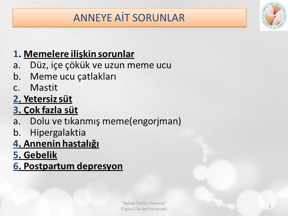 ANNEYE AİT SORUNLAR 1.