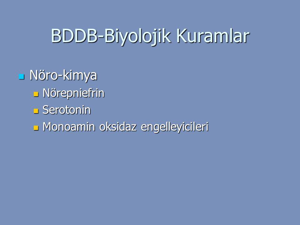 BDDB-Biyolojik Kuramlar Nöro-kimya Nöro-kimya Nörepniefrin Nörepniefrin Serotonin Serotonin Monoamin oksidaz engelleyicileri Monoamin oksidaz engelley
