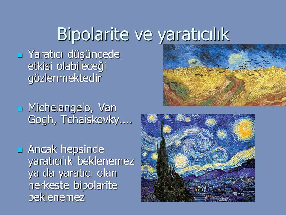 Bipolarite ve yaratıcılık Yaratıcı düşüncede etkisi olabileceği gözlenmektedir Yaratıcı düşüncede etkisi olabileceği gözlenmektedir Michelangelo, Van