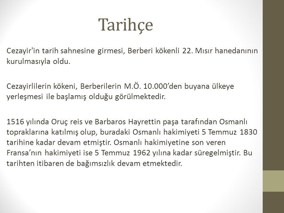 Tarihçe Cezayir in tarih sahnesine girmesi, Berberi kökenli 22.