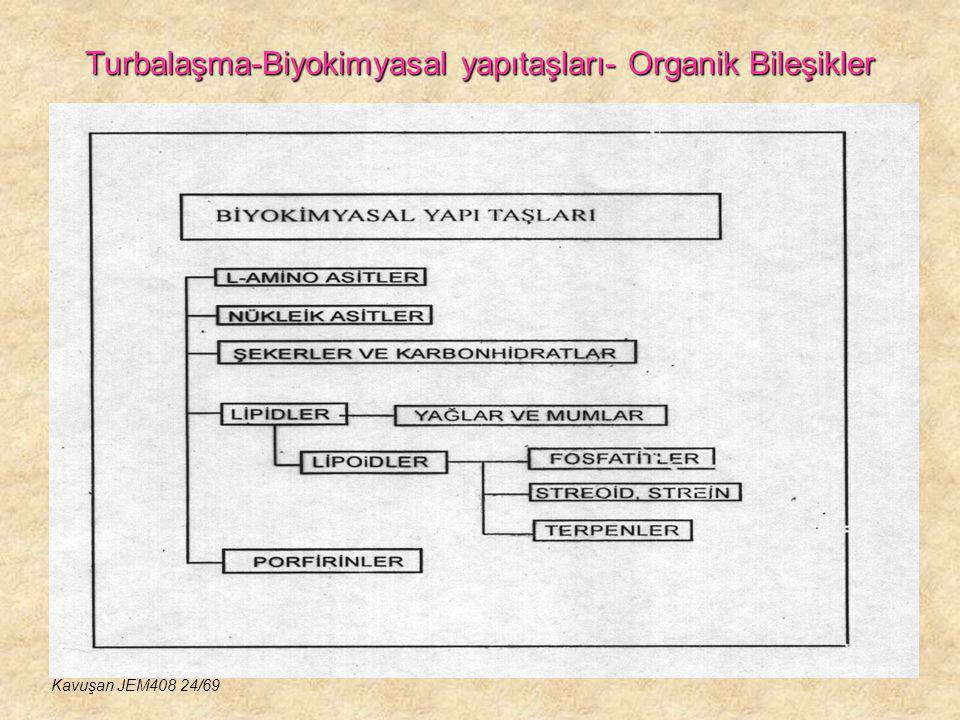Turbalaşma-Biyokimyasal yapıtaşları- Organik Bileşikler Kavuşan JEM408 24/69