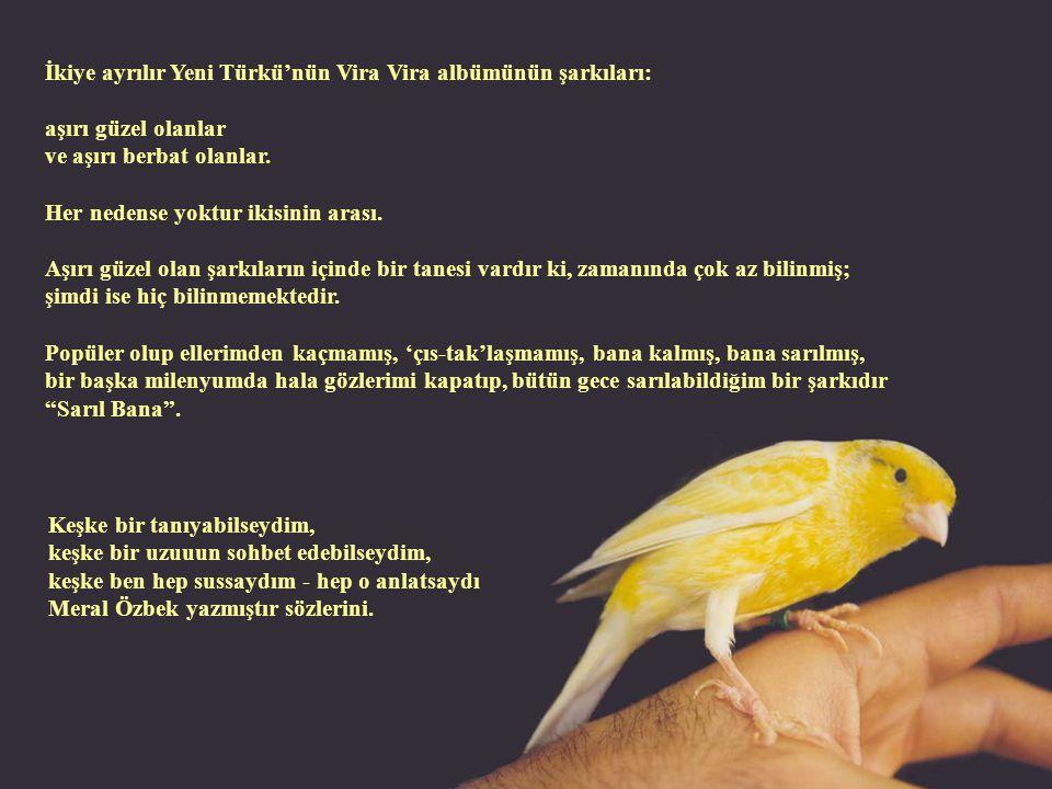 İkiye ayrılır Yeni Türkü'nün Vira Vira albümünün şarkıları: aşırı güzel olanlar ve aşırı berbat olanlar.