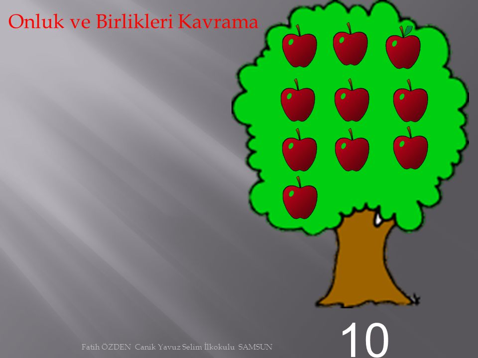 9 Onluk ve Birlikleri Kavrama Fatih ÖZDEN Canik Yavuz Selim İlkokulu SAMSUN