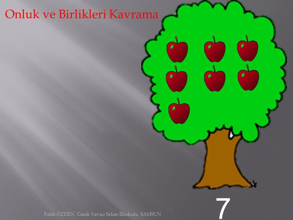 6 Onluk ve Birlikleri Kavrama Fatih ÖZDEN Canik Yavuz Selim İlkokulu SAMSUN