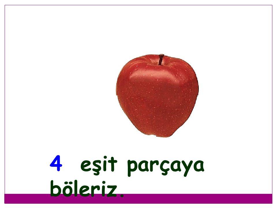 1 tam elmayı 4 çocuk kavga etmeden nasıl paylaşırlar?