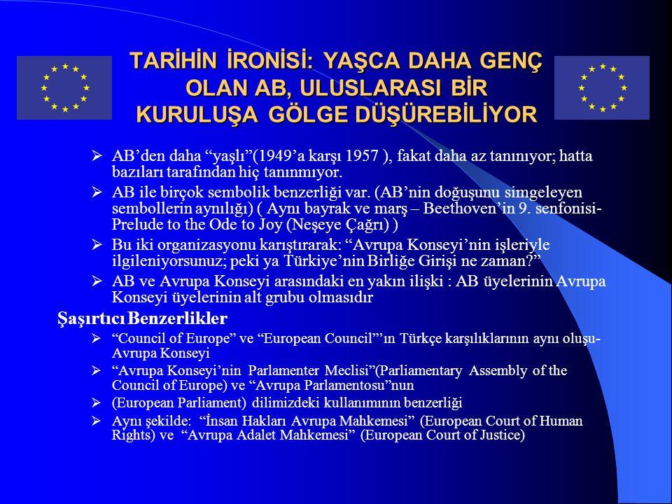 AVRUPA KONSEYİ HAKKINDA TEMEL OLGULAR  Avrupa'nın en eski uluslararası siyasi organizasyonudur.