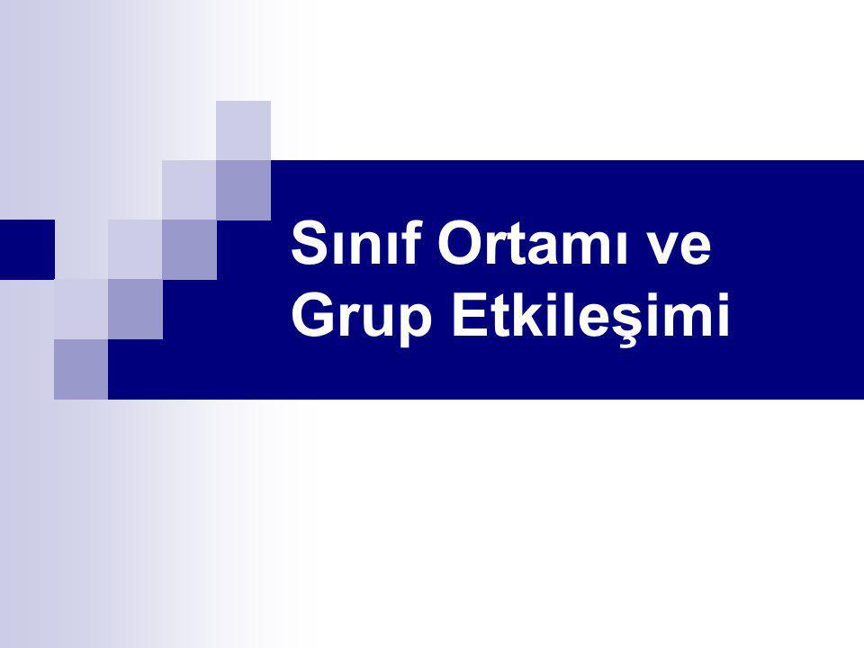 Temel grup Sınıfta 4-5 kişilik temel gruplar kurulur.