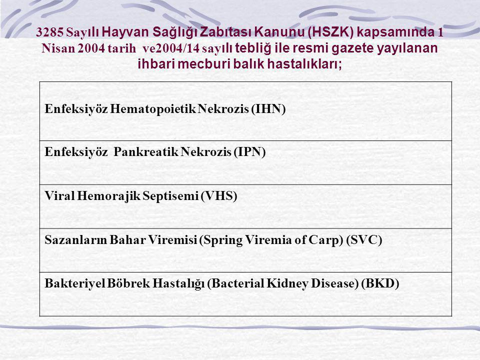 3285 Sayılı Hayvan Sağlığı Zabıtası Kanunu (HSZK) kapsamında 1 Nisan 2004 tarih ve2004/14 sayılı tebliğ ile resmi gazete yayılanan ihbari mecburi balı