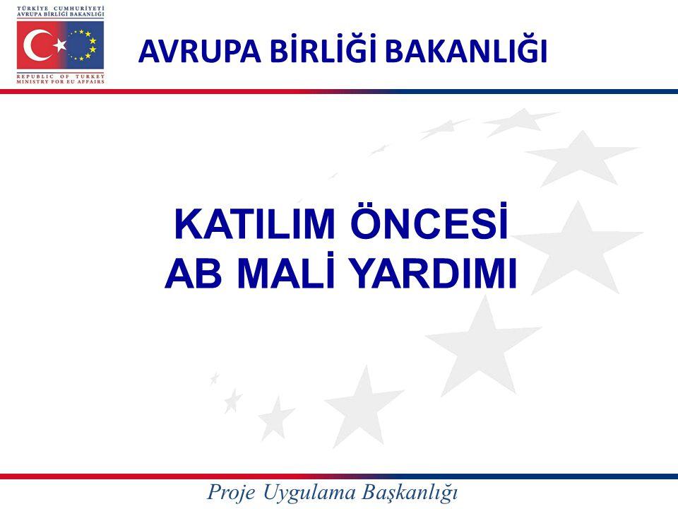 KATILIM ÖNCESİ AB MALİ YARDIMI AVRUPA BİRLİĞİ BAKANLIĞI Proje Uygulama Başkanlığı