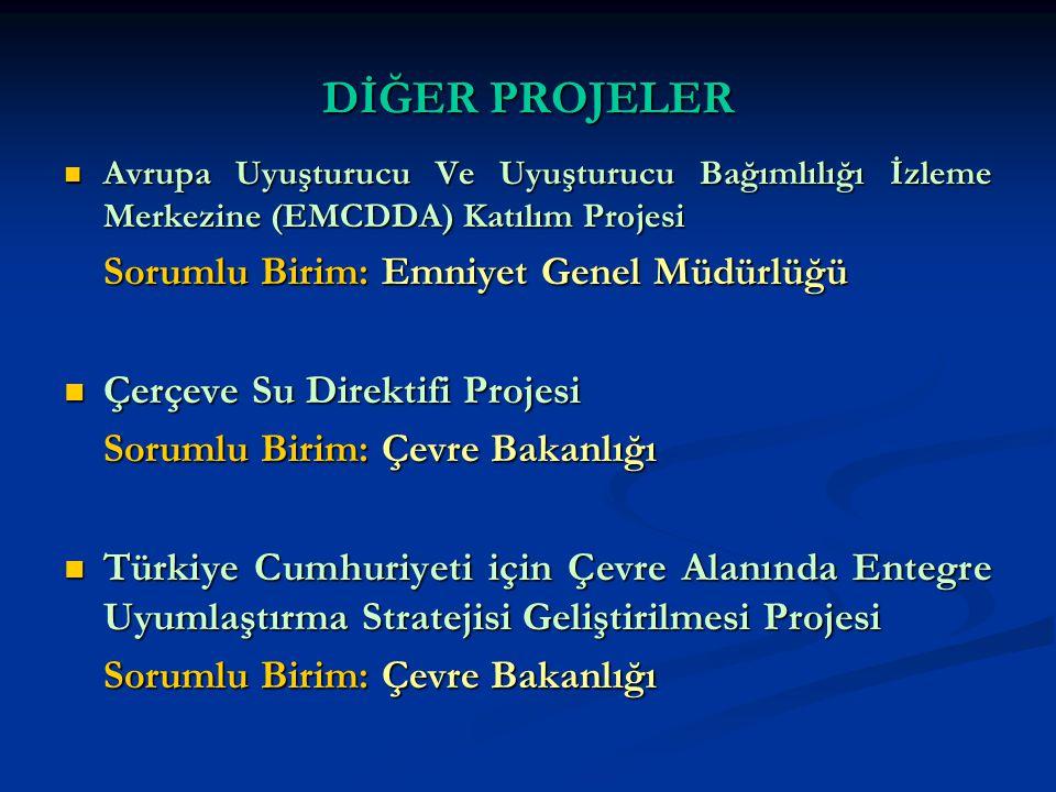 DİĞER PROJELER Avrupa Uyuşturucu Ve Uyuşturucu Bağımlılığı İzleme Merkezine (EMCDDA) Katılım Projesi Avrupa Uyuşturucu Ve Uyuşturucu Bağımlılığı İzlem