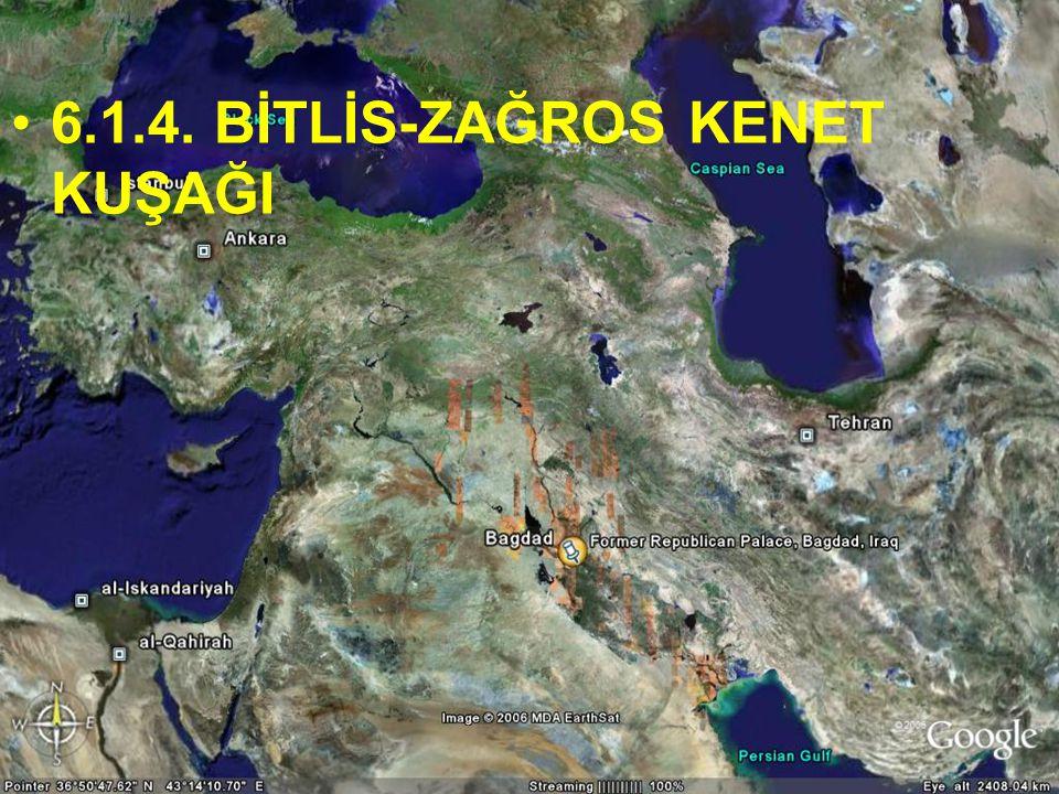 NEOTEKTONİK Doç.Dr. Yaşar EREN 6.1.4. BİTLİS-ZAĞROS KENET KUŞAĞI
