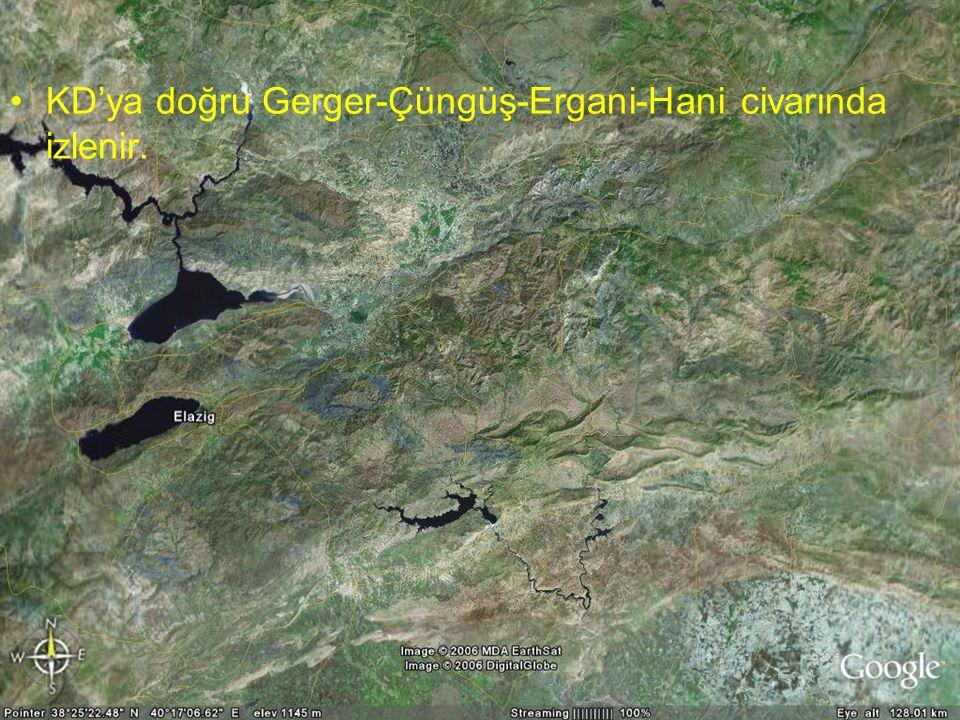 NEOTEKTONİK Doç.Dr. Yaşar EREN KD'ya doğru Gerger-Çüngüş-Ergani-Hani civarında izlenir.