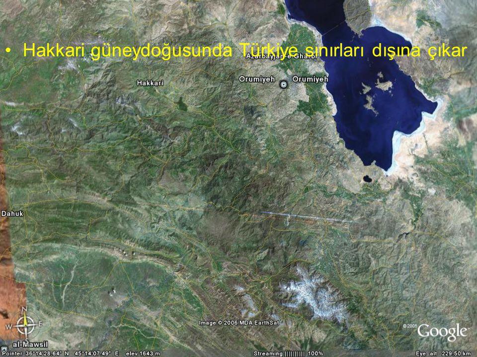 NEOTEKTONİK Doç.Dr. Yaşar EREN Hakkari güneydoğusunda Türkiye sınırları dışına çıkar