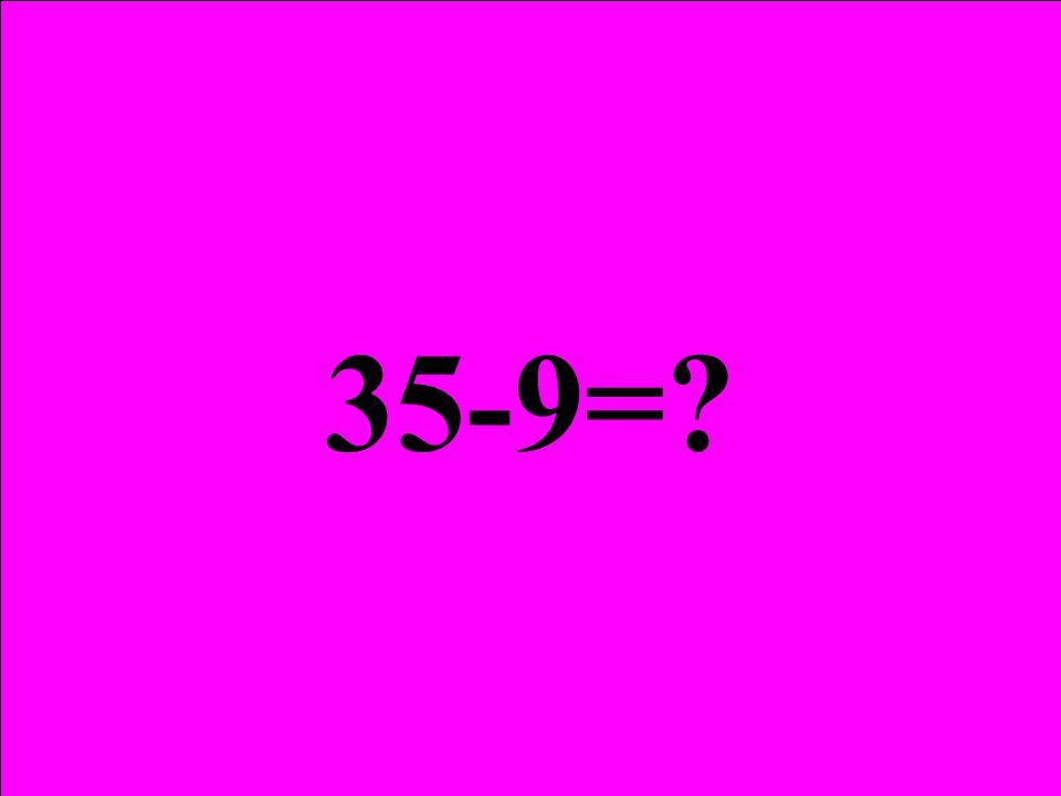 35 öğrenci 4 5 Çıkan öğrenciler 4+5 =? 35-9=?