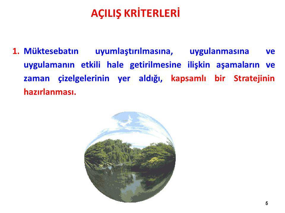 6 2.AT-Türkiye Ortaklık Konseyi'nin kararlarına uygun olarak, ilgili AB Çevre Mevzuatının uygulanmasına ilişkin yükümlülüklerin (Gümrük Birliği) yerine getirilmesi.